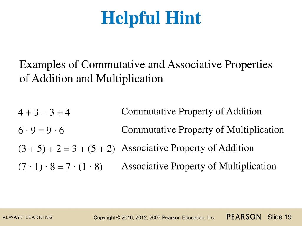 Commutative Property Examples Image Collections Example Cover