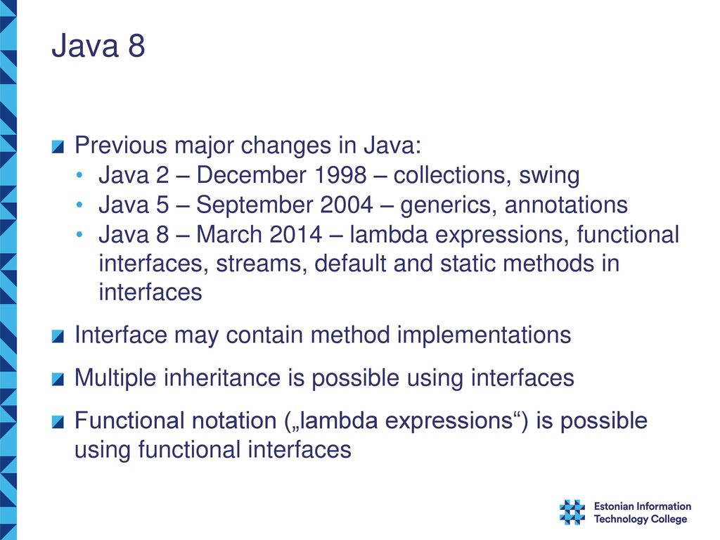 New Features in Java 8 Jaanus Pöial, PhD Tallinn, Estonia