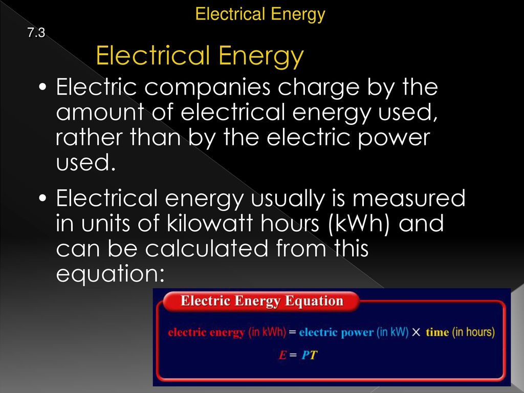 15 Electrical Energy 7 3 Electric Companies