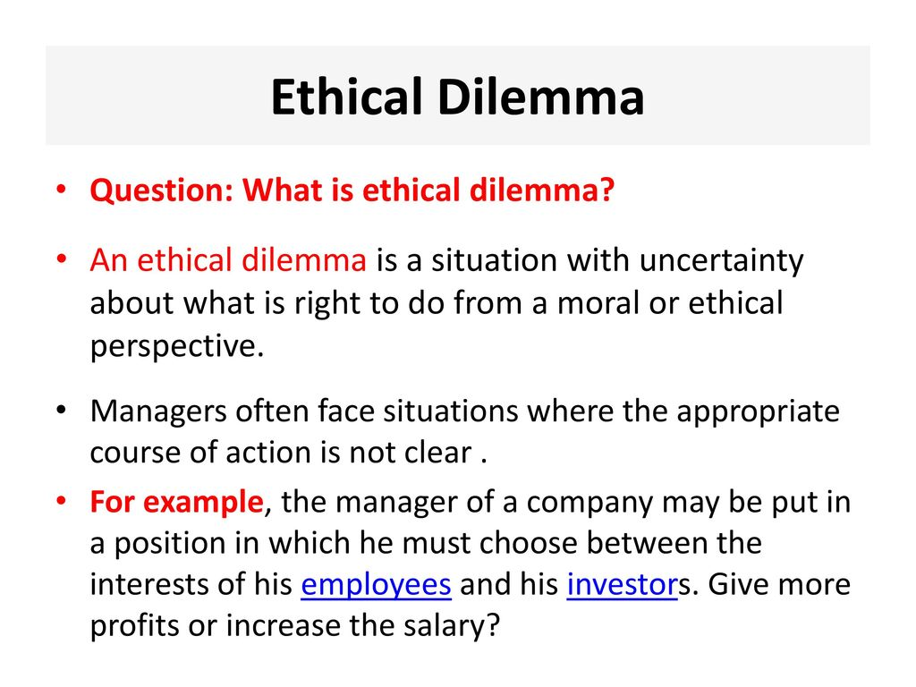 moral dilemma questions for students
