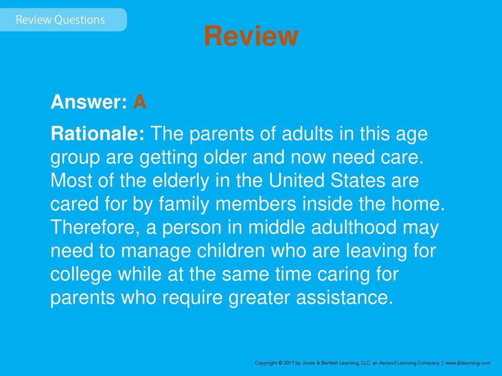 in the united states middle adulthood is