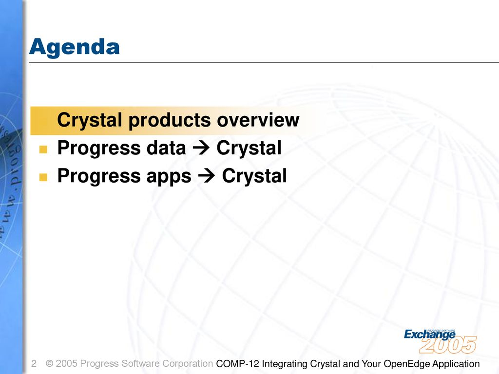 Integrating Crystal® and your OpenEdge™ Application - ppt