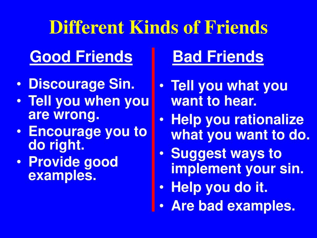 different kinds of friends