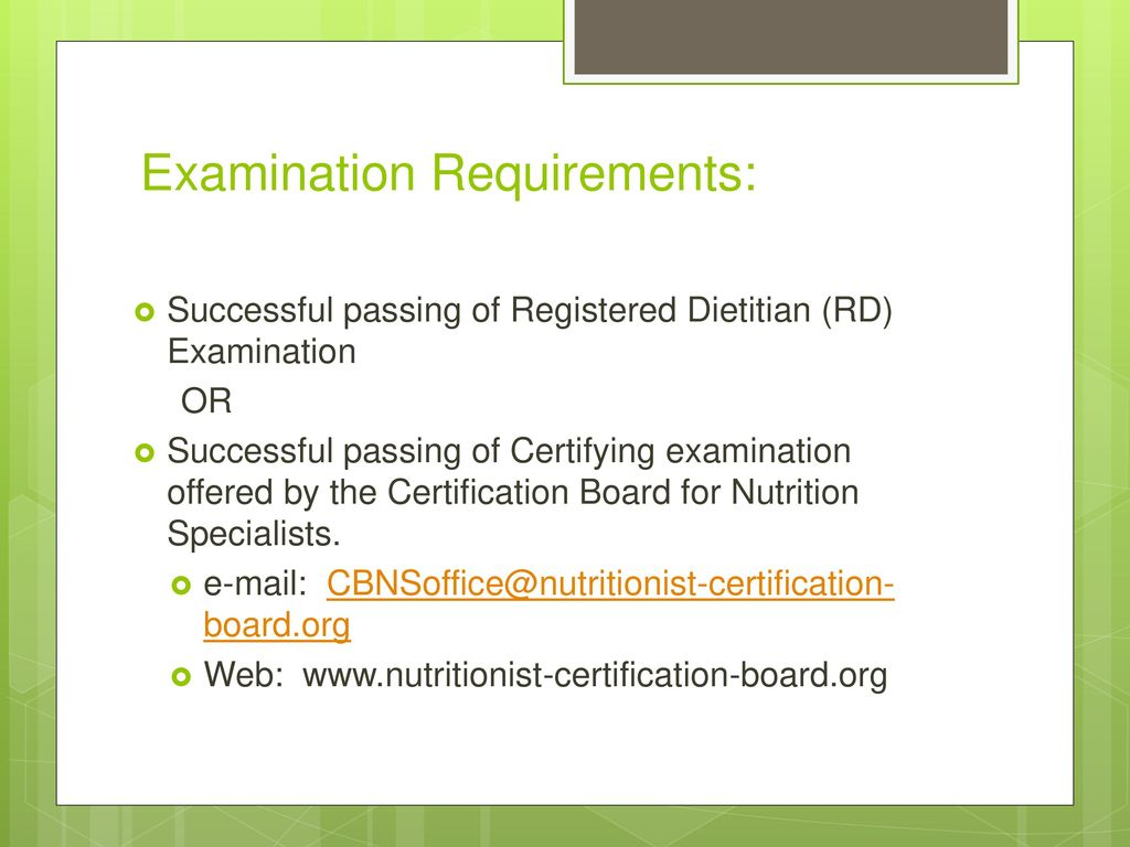 Certified Nutritionist Certified Dietitian Nutritionist Ppt Download