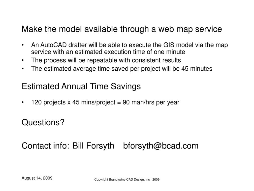 Bill Forsyth Brandywine CAD Design, Inc  - ppt download