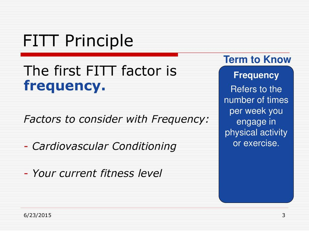 The F.I.T.T. Principle Is Designed to Produce an Effective Workout images