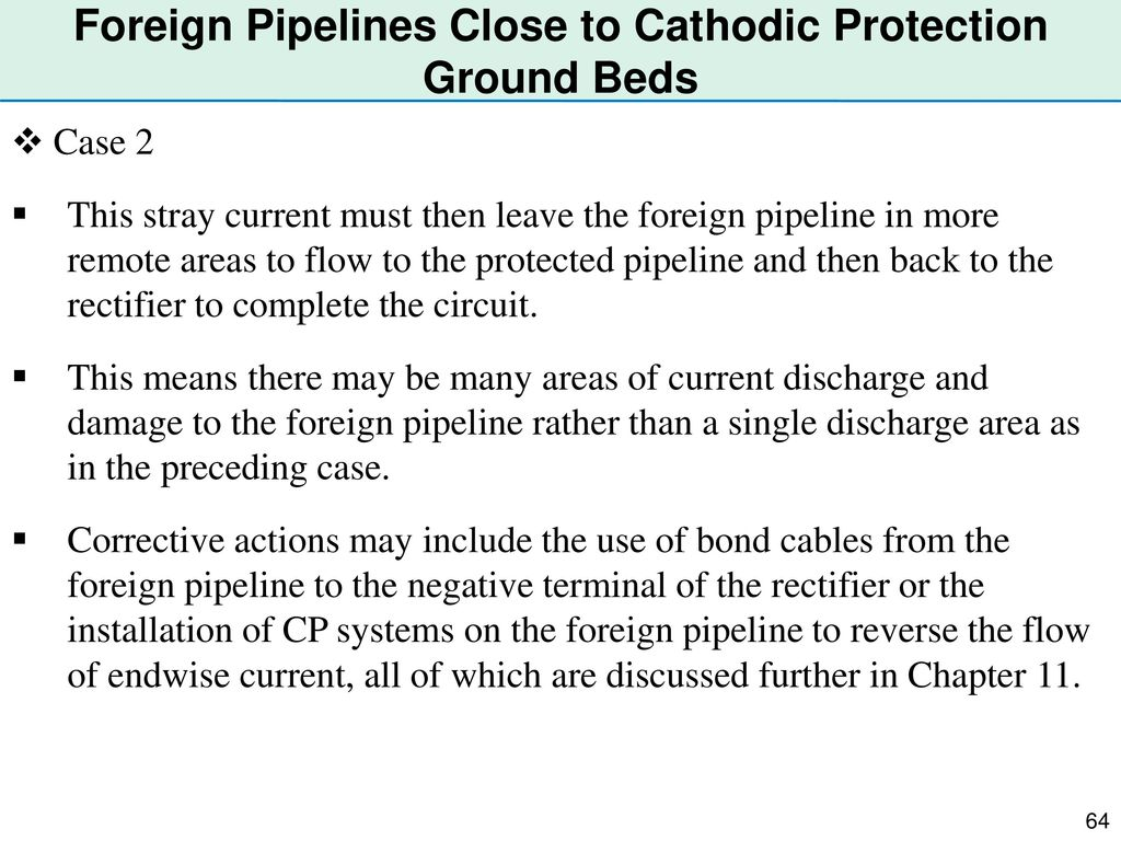 Foreign Pipelines Close to Cathodic Protection Ground Beds