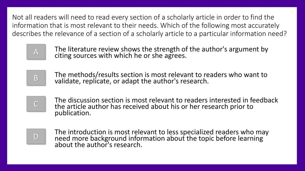 how are background sources most relevant to researchers