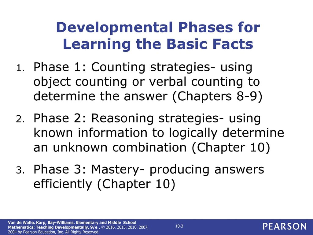CHAPTER 10 Developing Basic Fact Fluency - ppt download