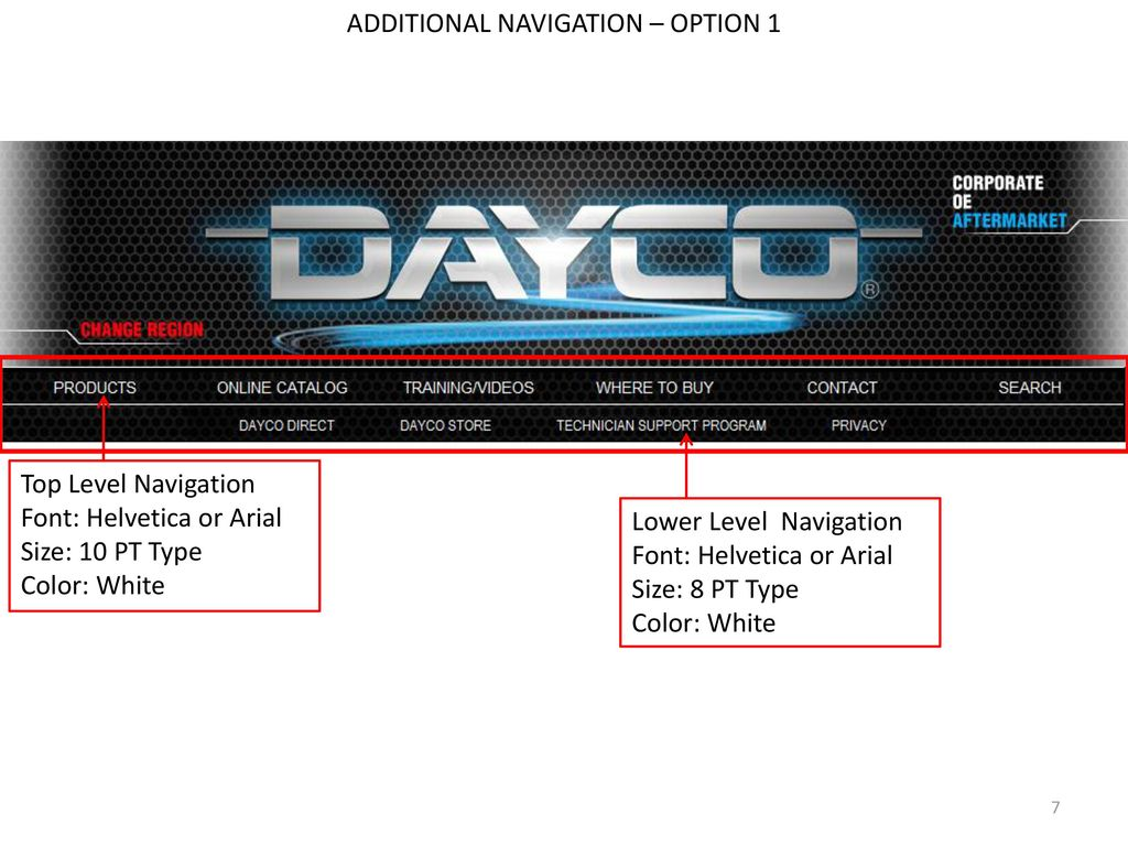 DAYCO AFTERMARKET WEBSITE GRAPHICS AND GUIDELINES - ppt download