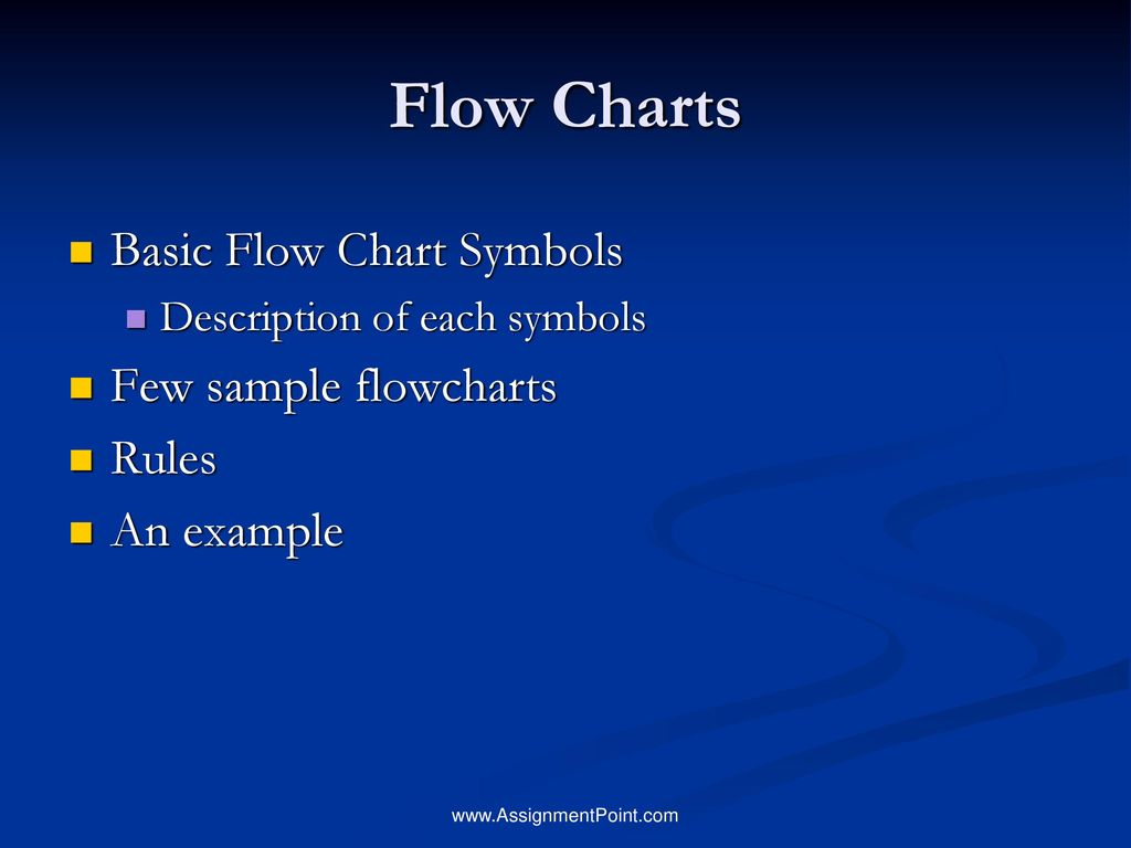 Flow Charts Basic Flow Chart Symbols Few Sample Flowcharts Rules