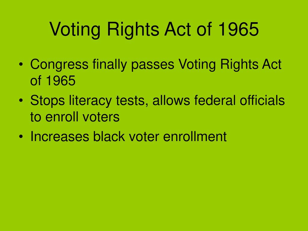 Civil Rights Review Civil Rights Act Ppt Download