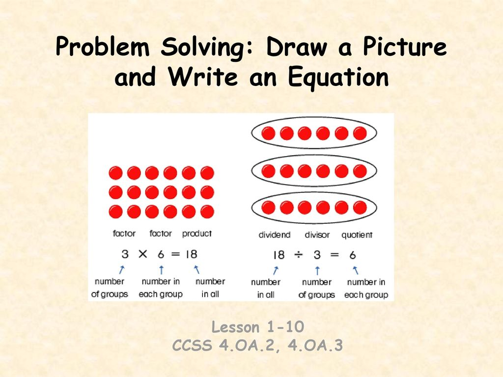 problem solving draw a picture reteaching 13-10