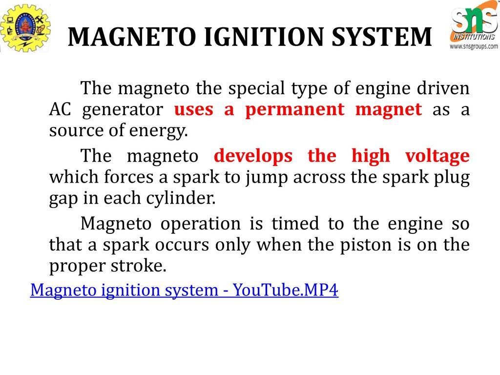 ENGINE IGNITION SYSTEM - ppt download