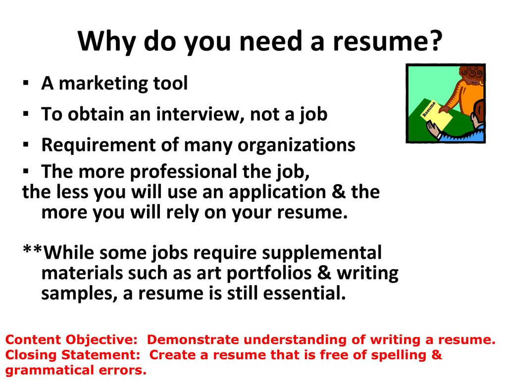 Warm Up How long do you think an employer looks at each resume ...