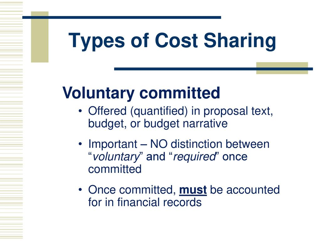 WELCOME Cost Sharing Workshop/Training  - ppt download