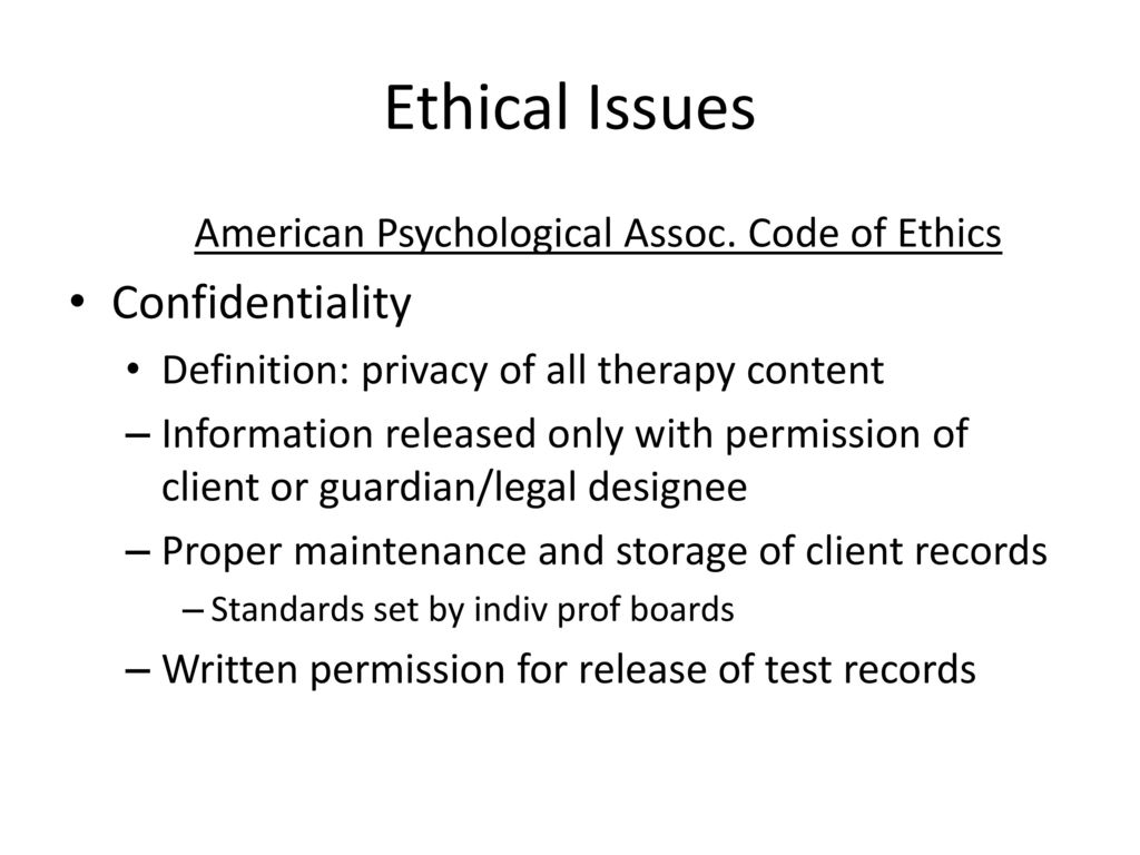 what does ethical issues mean in psychology