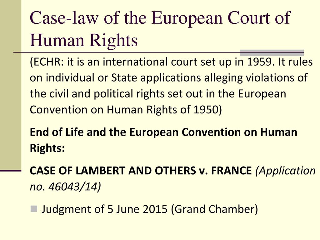 How to apply to the European Court: application rules