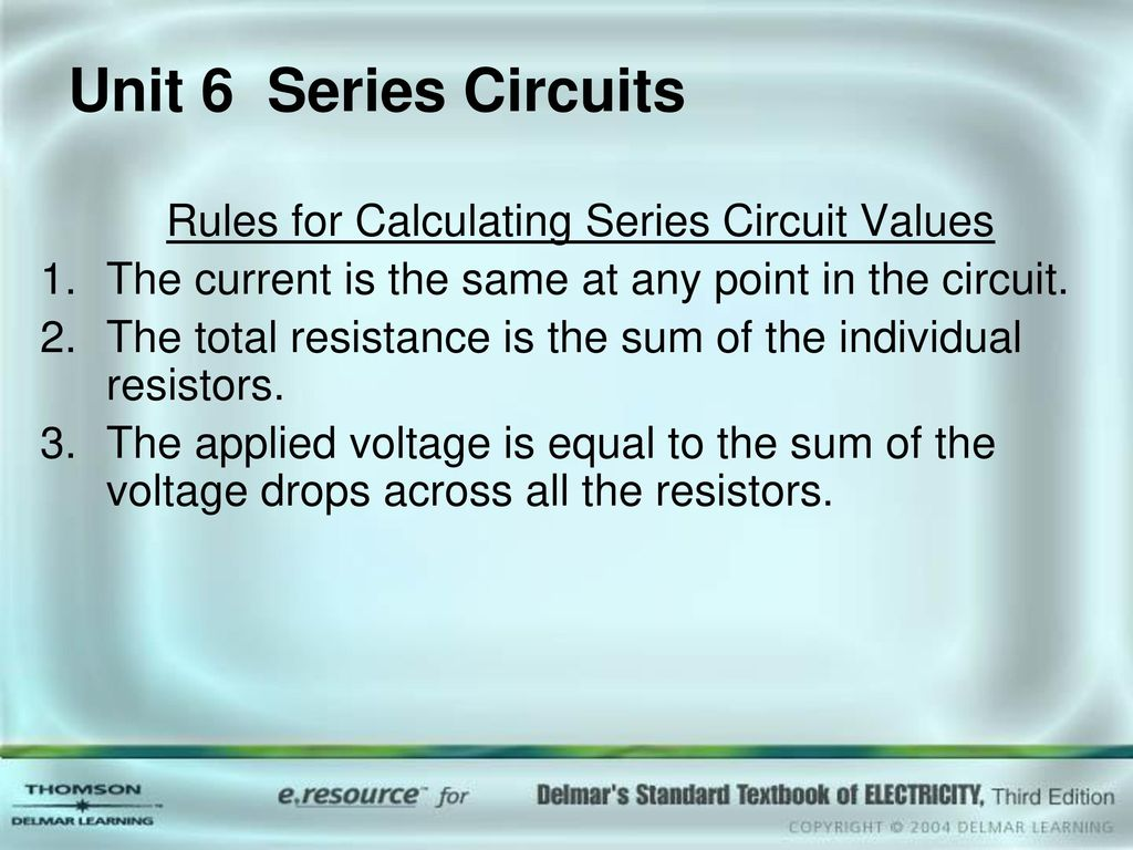 Unit 1 Atomic Structure Objectives Ppt Download Circuits Together With Series Circuit Formula On Parallel Rules For Calculating Values