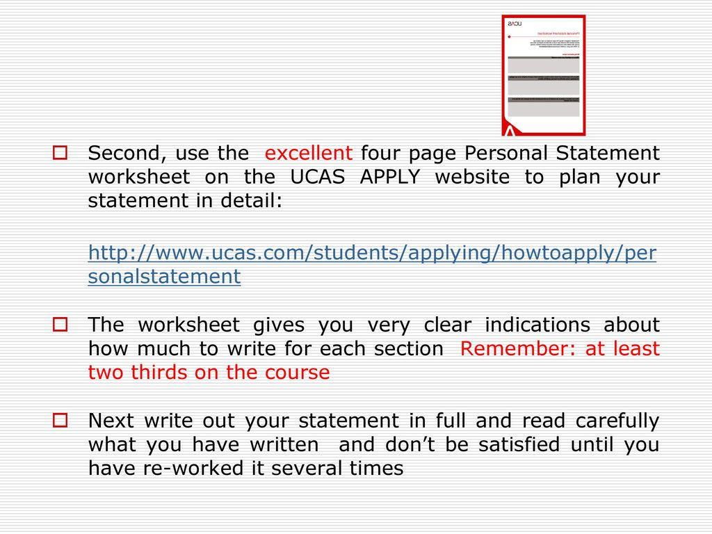 UCAS PERSONAL STATEMENT: THE BASICS - ppt download