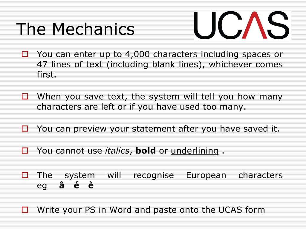 ucas personal statement characters with spaces
