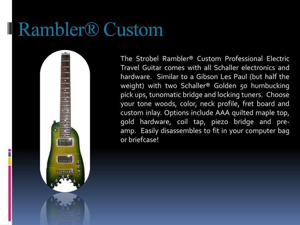 Strobel Guitars  - ppt download