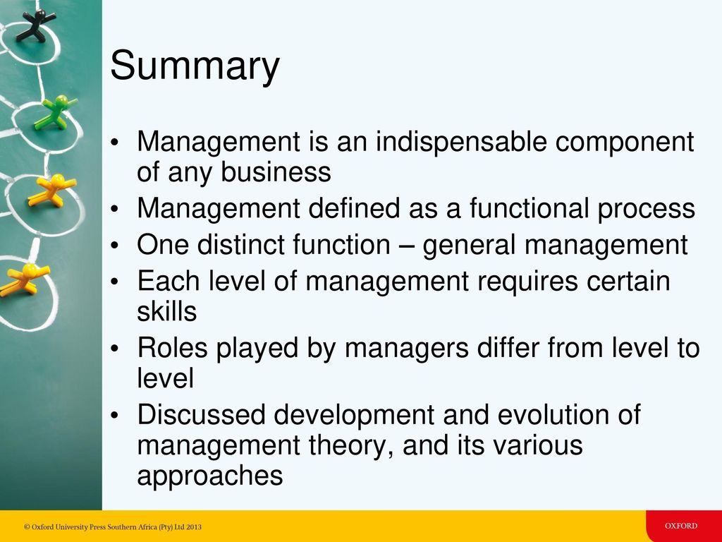 90ad36c47b Summary Management is an indispensable component of any business