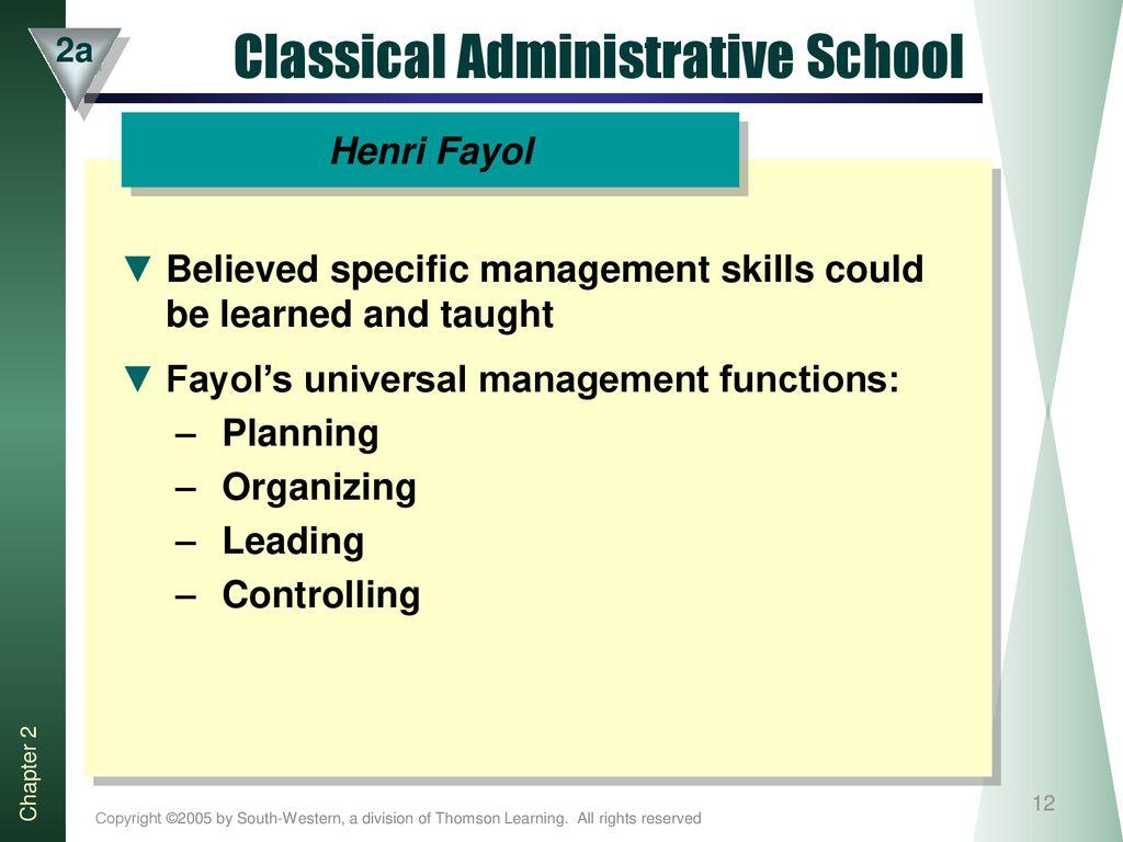 classical administrative school