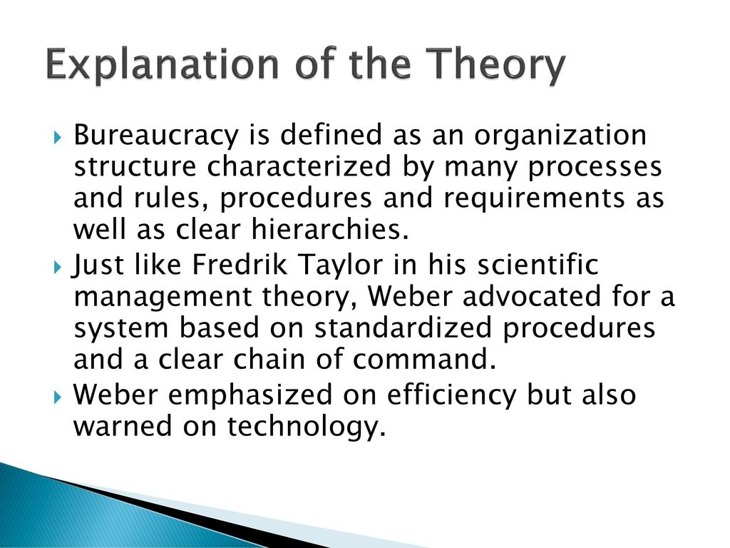 Bureaucracy theory management