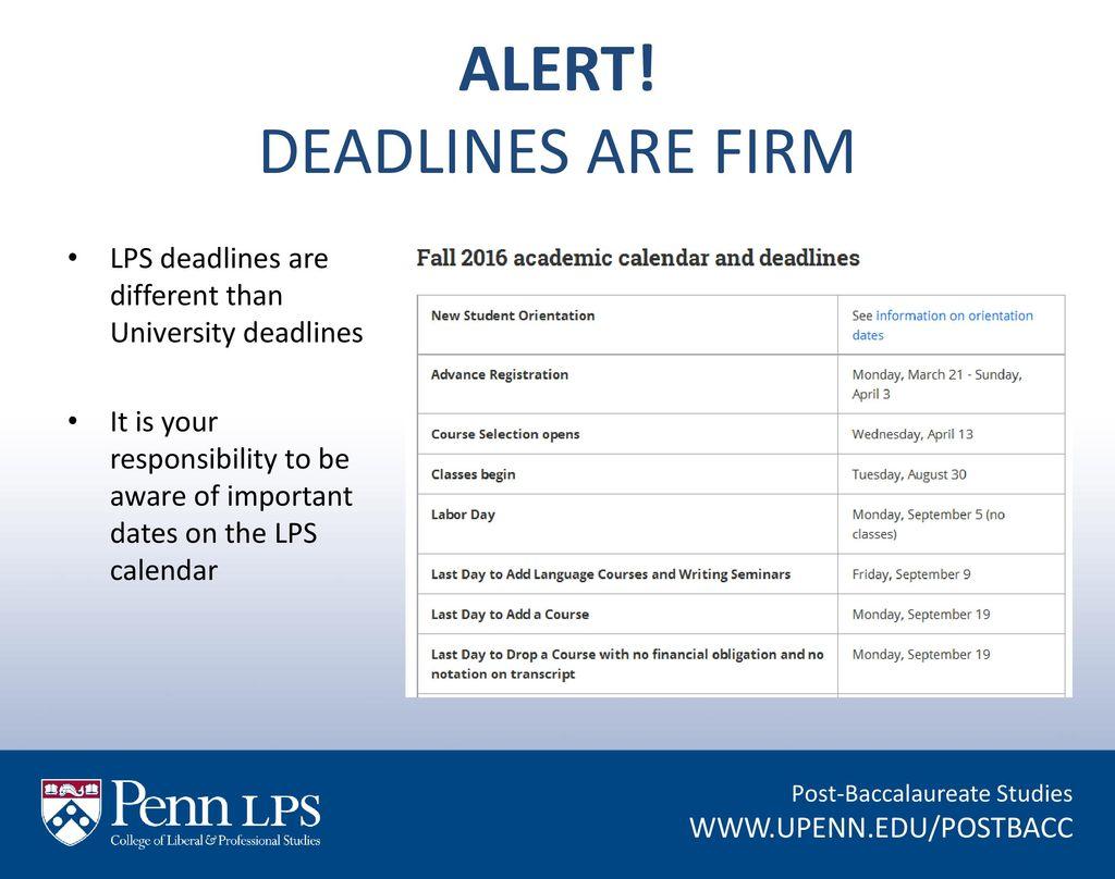 Academic Calendar Upenn.Post Baccalaureate Studies Ppt Download