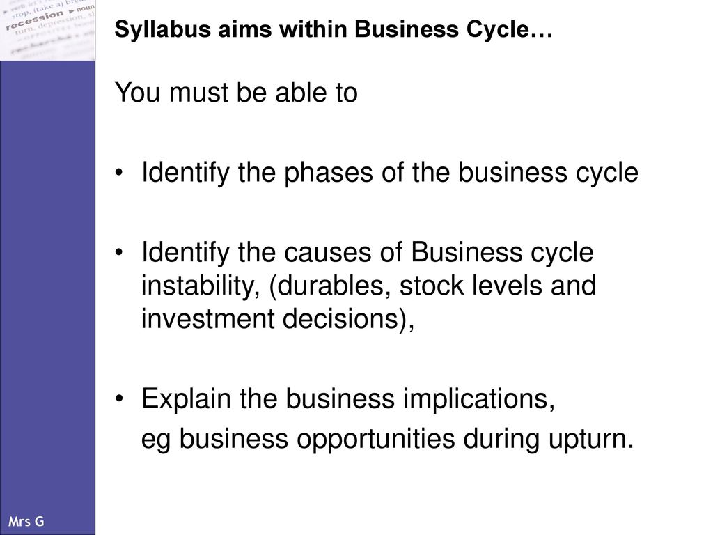 explain the phases of business cycle