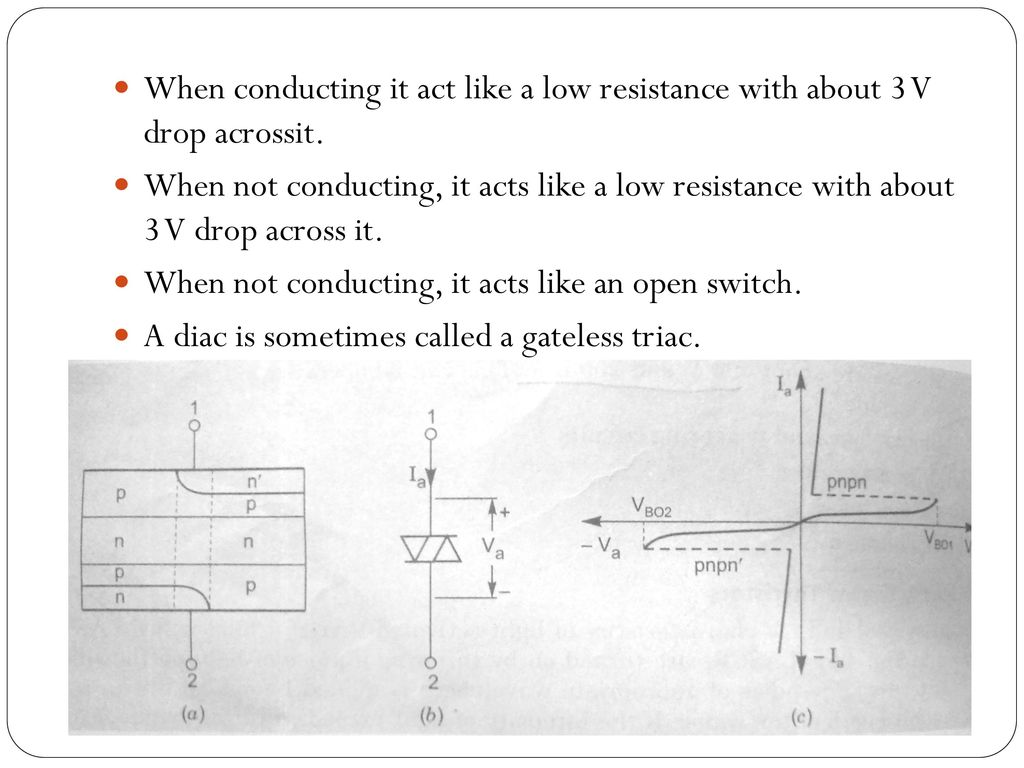 Other Members Of Thyristor Family Ppt Download Time Delay Circuit Using A Ujt And Two Scrs Diagram When Conducting It Act Like Low Resistance With About 3 V Drop Acrossit
