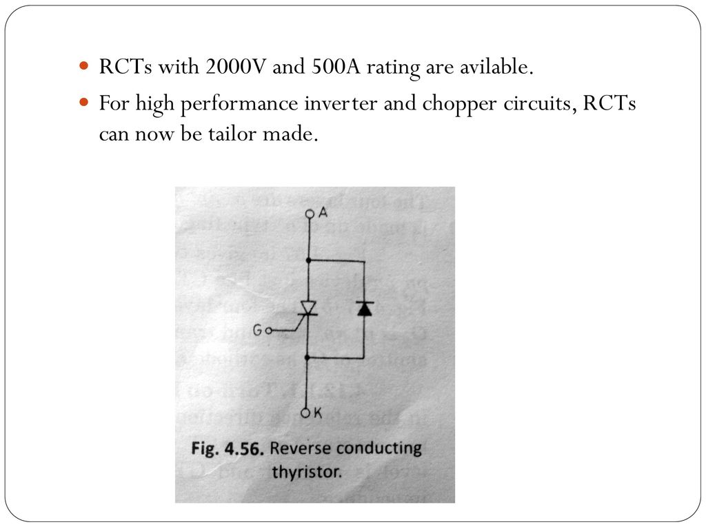 Other Members Of Thyristor Family Ppt Download Scr Need For Thyristors In Power Electronic Circuits Electrical 15 Rcts
