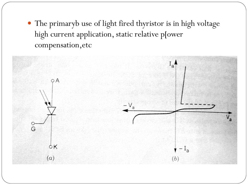 Other Members Of Thyristor Family Ppt Download Time Delay Circuit Using A Ujt And Two Scrs Diagram 8 The Primaryb Use Light Fired Is In High Voltage Current Application Static Relative Power Compensationetc