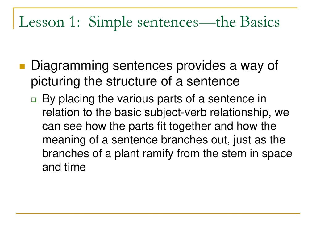 Sentence diagramming luehrs style ppt download 3 lesson ccuart Image collections