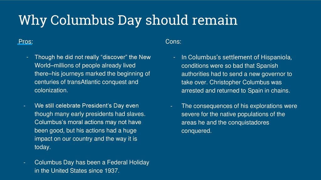 christopher columbus cons