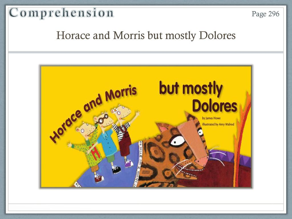horace and morris but mostly dolores howe james walrod amy