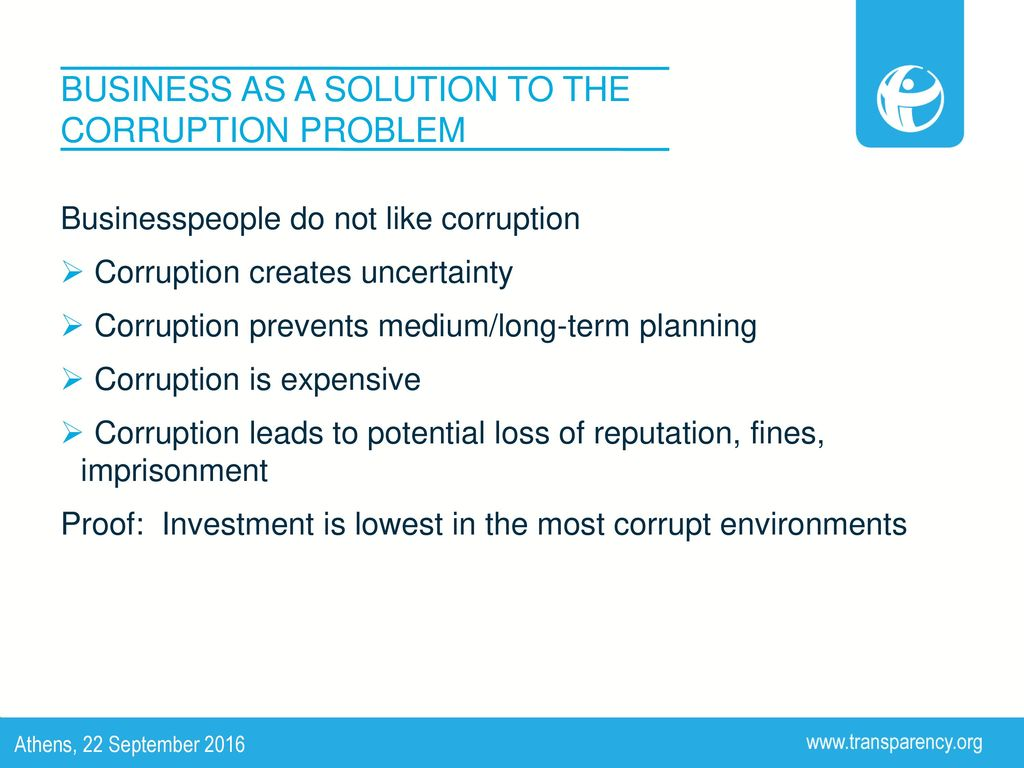 corruption problem and solution