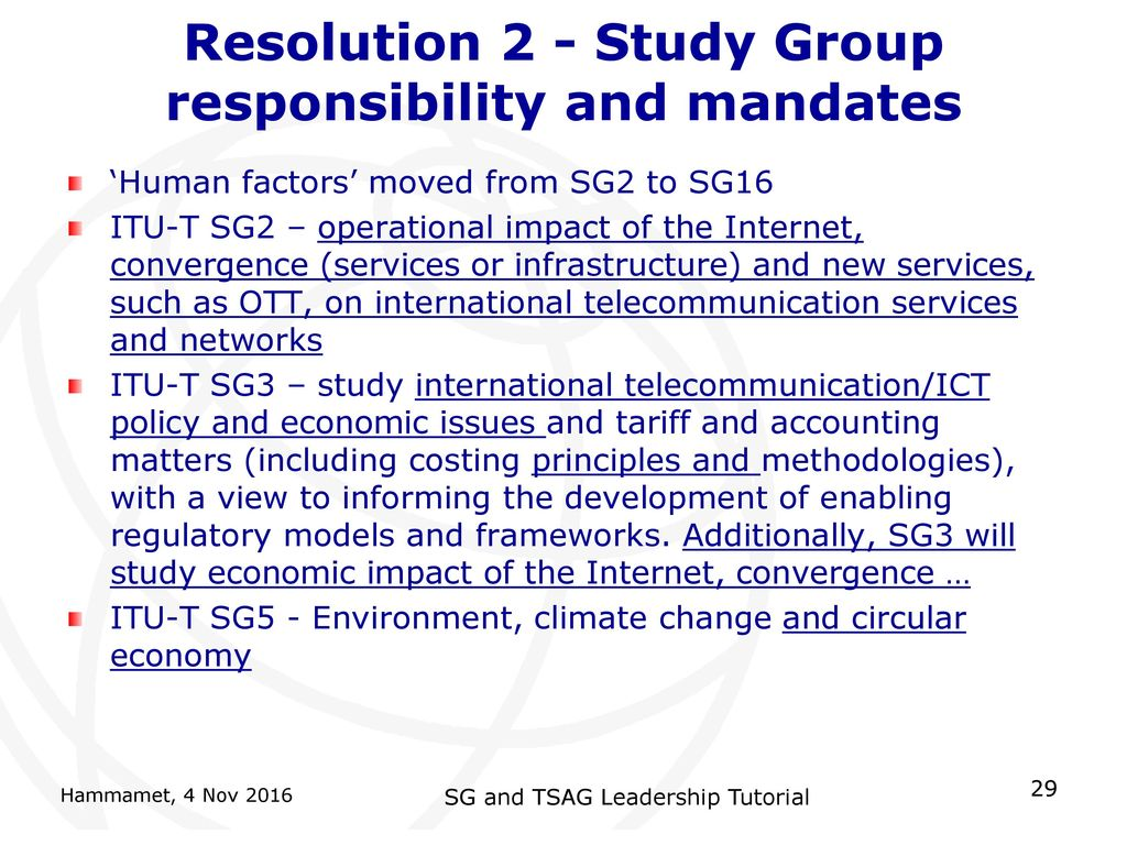 Summary of Significant Changes in WTSA-16 - What's new - ppt