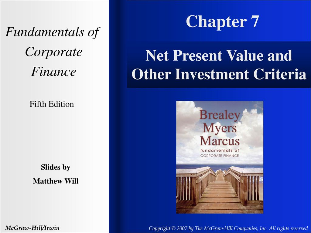 Ppt net present value and other investment criteria explain forex market