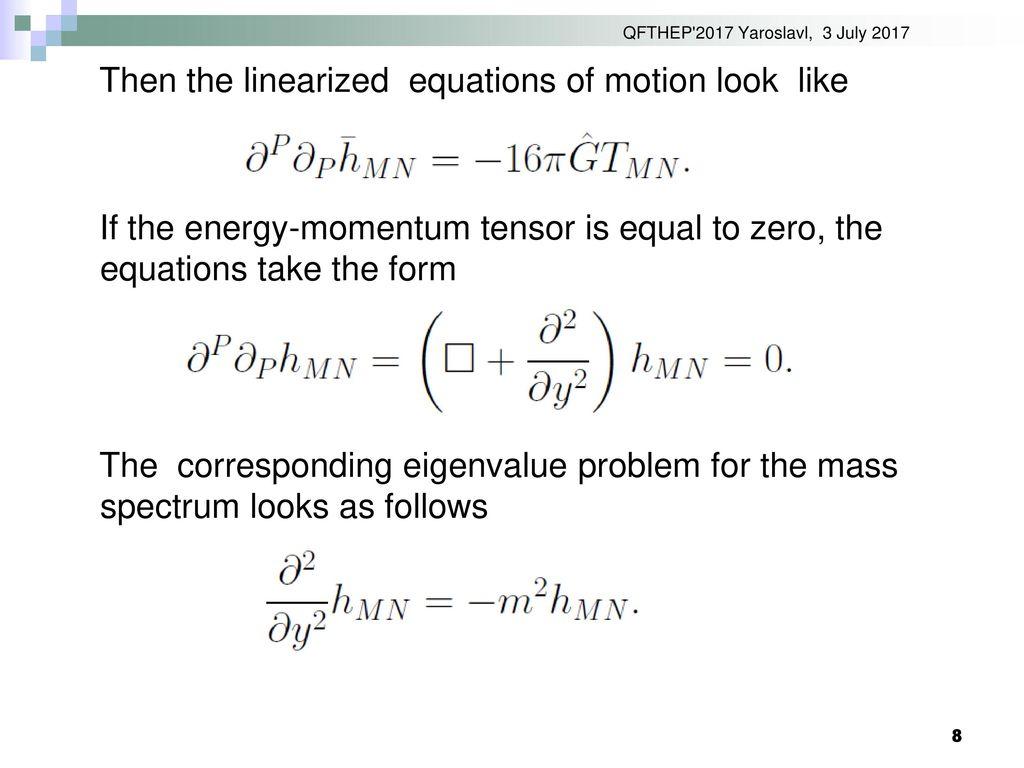 Qft Equation Of Motion