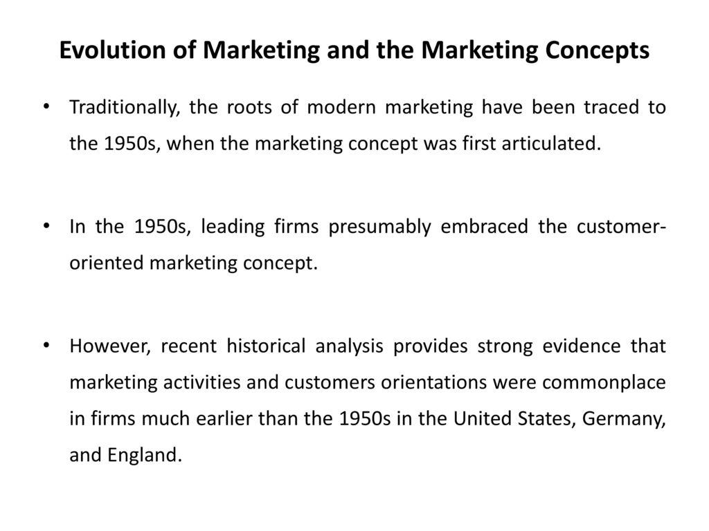 Modern marketing concepts