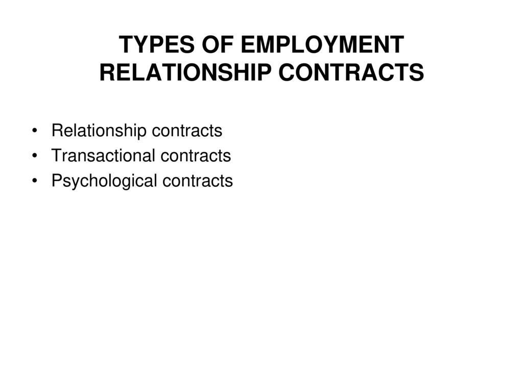 What is an employment relationship