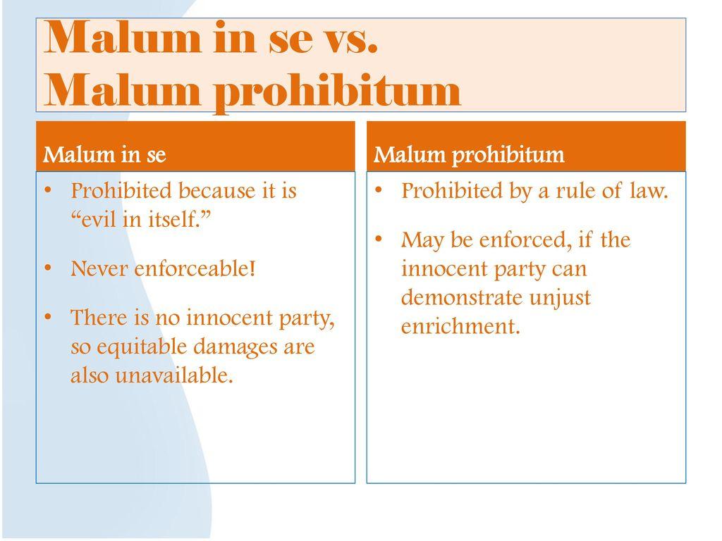 malum in se vs malum prohibitum