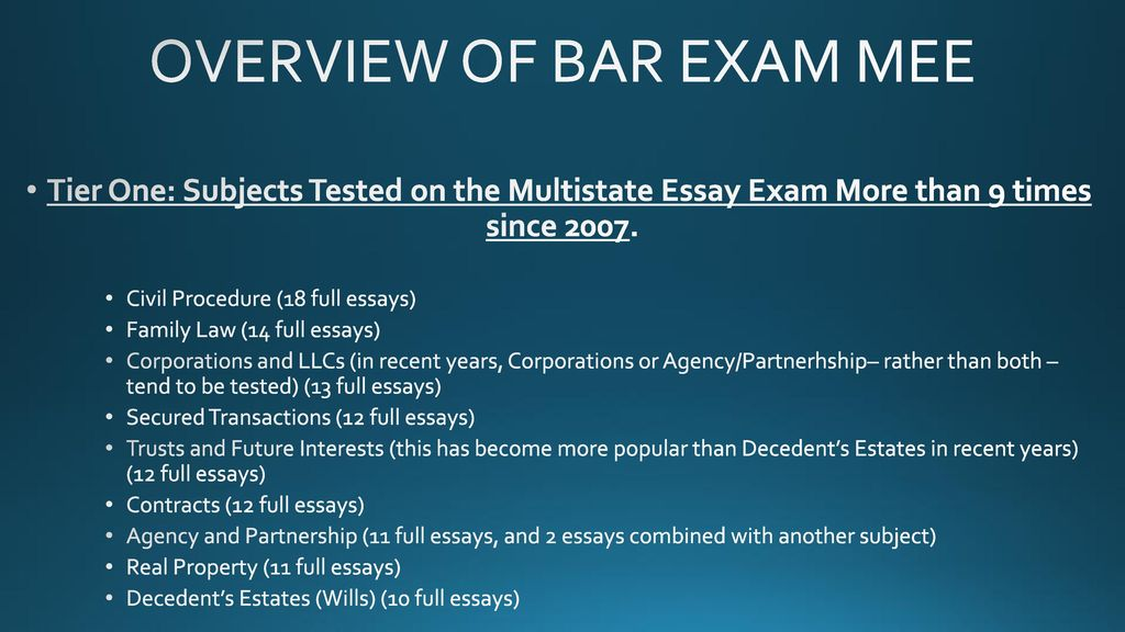 Thesis Statement Persuasive Essay  Overview  Science And Technology Essay also Thesis Essay Topics Multistate Essay Exam Mee Overview  Strategies  Ppt Download Buy Essays Papers
