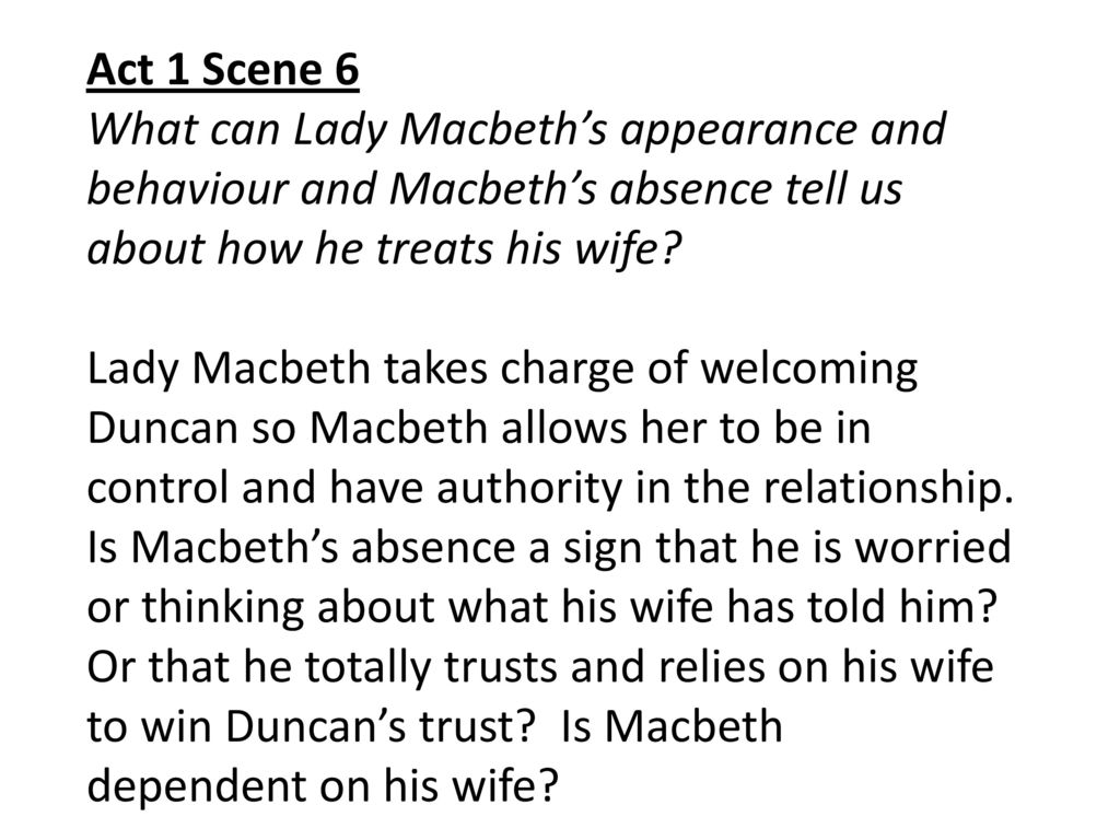 What Doe Act 1 Scene 6 Tell U About How Macbeth Treat Hi Wife Ppt Download 3 Quote Analysis