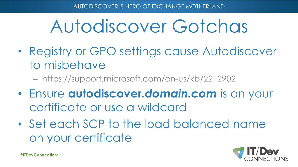 Autodiscover is Hero of Exchange Motherland! - ppt download