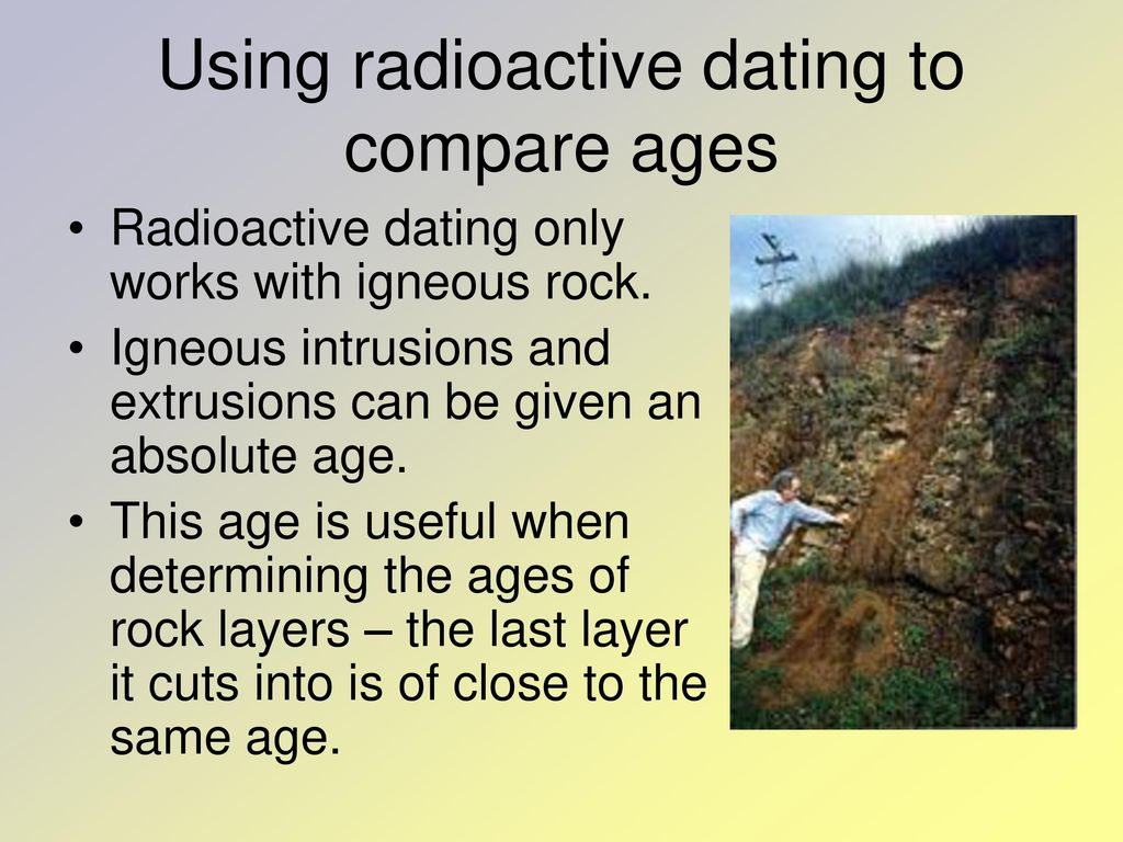 Why does radioactive dating only work with igneous rocks