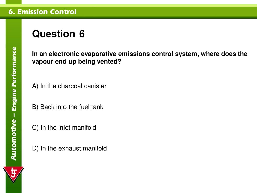 Emission Control Topics covered in this presentation: - ppt