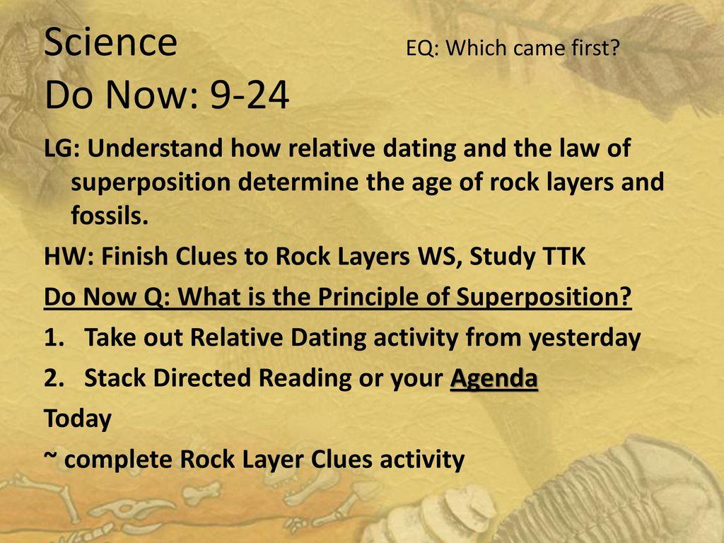 Hur gör relativ dating möjliggöra paleontologer att uppskatta en fossil ålder Quizlet